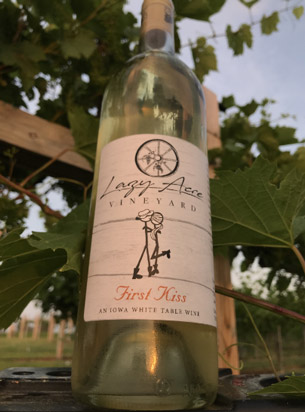 bottle of First Kiss wine