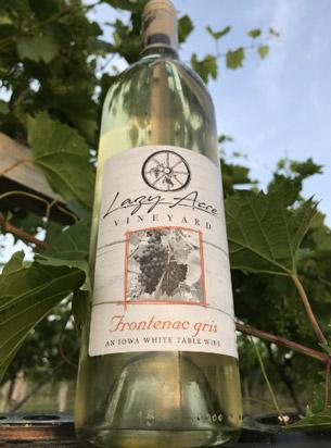 bottle of Frontenac Gris wine