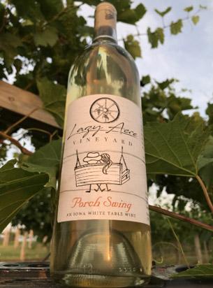 bottle of Porch Swing wine