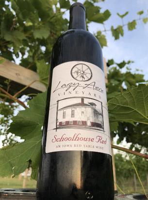 bottle of Schoolhouse Red wine